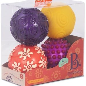 NEW B.baby Set of Odd Balls Multi Color Toys